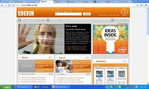 Google Chrome showing the bbc.co.uk web site